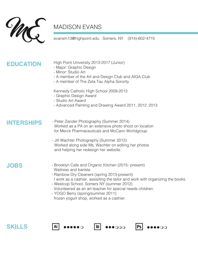 Resume – Madison Evans Design